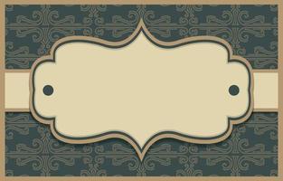 fundos de borda de ornamento vintage vetor