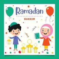 ilustração desenhada à mão para o ramadan kareem e a cultura islâmica vetor