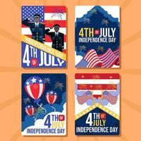 cartão comemorativo do 4 de julho vetor