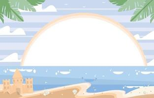 brincar no fundo da praia vetor