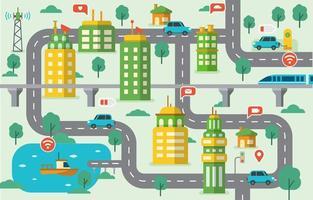 ilustração de integrações de cidade inteligente vetor