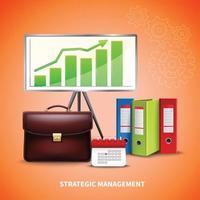 ilustração em vetor conceito realista de negócios