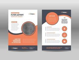 design de folheto de negócios corporativos ou folheto e design de folheto ou design de folheto de marketing vetor