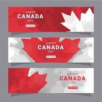 coleção de banners do dia canadense vetor