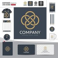 logotipo abstrato modelo de identidade corporativa vetor