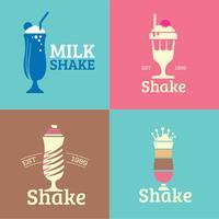 Coleção de logotipo de milkshakes diner vetor