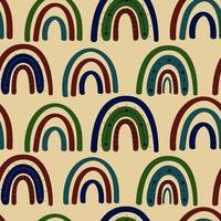 padrão sem emenda do arco-íris boho. ilustração vetorial vetor