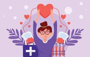projeto de conceito de doador de sangue vetor
