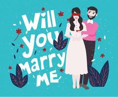 Vetor de Vol 2 de proposta de noivado