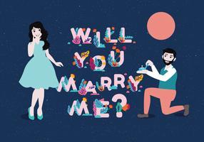 Vetor de Vol 3 de proposta de noivado