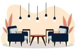interiores elegantes de apartamentos em estilo escandinavo com decoração moderna vetor