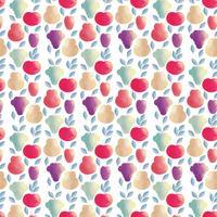 Vector frutas sem costura padrão