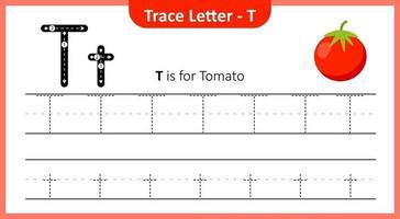 trace a letra t vetor