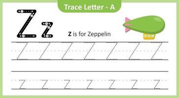 trace a letra z vetor
