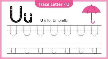 trace a letra você vetor