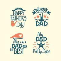feliz dia dos pais inspirador e conjunto de vetores de cartaz de citações