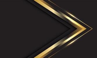 direção da seta dourada abstrata em cinza com espaço em branco vetor