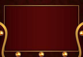 Corte de papel luxuoso fundo dourado com textura metálica vermelha estilo abstrato 3d vetor