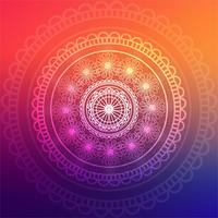 Fundo abstrato mandala colorida vetor