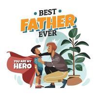 o poder de um pai vetor