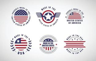 design de conceito de logotipo made in USA