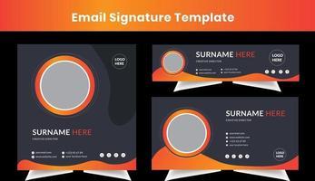 modelo de design de assinatura de e-mail pessoal empresarial conjunto de layout de e-mail vetor
