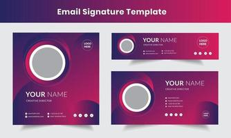 modelo de design de assinatura de e-mail corporativo conjunto de layout de e-mail vetor