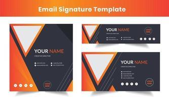 conjunto de modelos de assinaturas de e-mail corporativo vetor