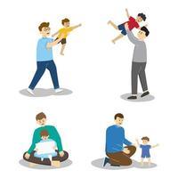 coleção de personagens feliz dia dos pais vetor