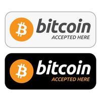 bitcoin aceito aqui vetor