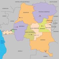 mapa da república democrática do congo vetor