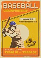 Folheto da liga do parque de beisebol vetor