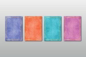conjunto de convite de casamento minimalista criativo pintado à mão com fundo de artes em aquarela abstratas vetor