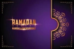 Mandala ornamental de luxo com logotipo de fundo em estilo arabesco vetor
