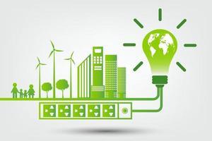 ideias de tecnologia de energia verde para o meio ambiente vetor