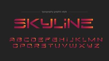 tipografia de formas futurísticas vermelhas modernas vetor
