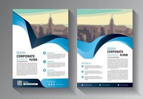 flyer modelo de negócios para promoção de layout de folheto ou empresa de relatório anual vetor