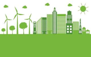 cidade ecológica verde vetor