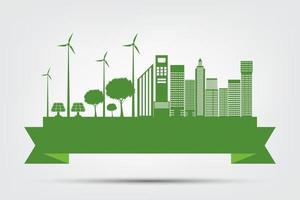 conceito de cidade ecológica e meio ambiente vetor