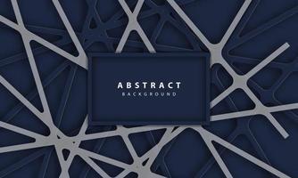 fundo abstrato com formas lineares de papel azul profundo vetor
