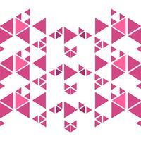 Fundo de polígono abstrato triângulos rosa vetor