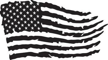bandeira do grunge dos eua vetor