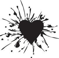 manchas de coração e tinta vetor
