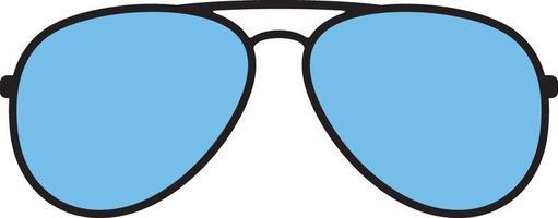 óculos de sol de aviador vetor