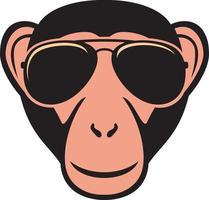 macaco com óculos de aviador vetor