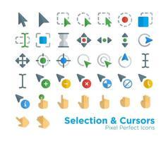 ícones de cursores de seleção vetor