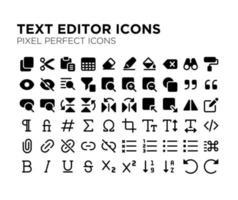 ícone perfeito de pixel de editor de texto vetor