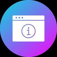 ícone de informações do navegador vetor