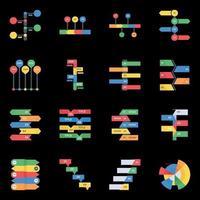 diferentes tabelas e gráficos modernos vetor