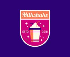Logotipo do milk-shake de jantar vetor